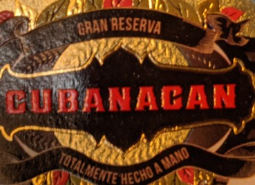 closeup of label of cubanacan